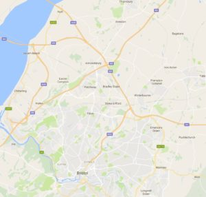 Map of Bristol and surrounding areas